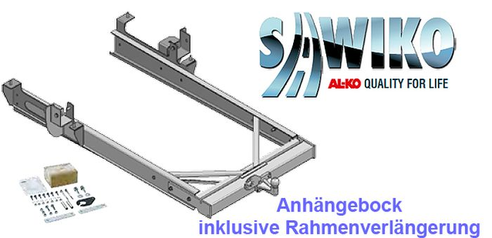 Anhängerkupplung Typ Sawiko 047 f. Wohnmobile ohne tragfähige Rahmenverlängerung, D 12,5kN