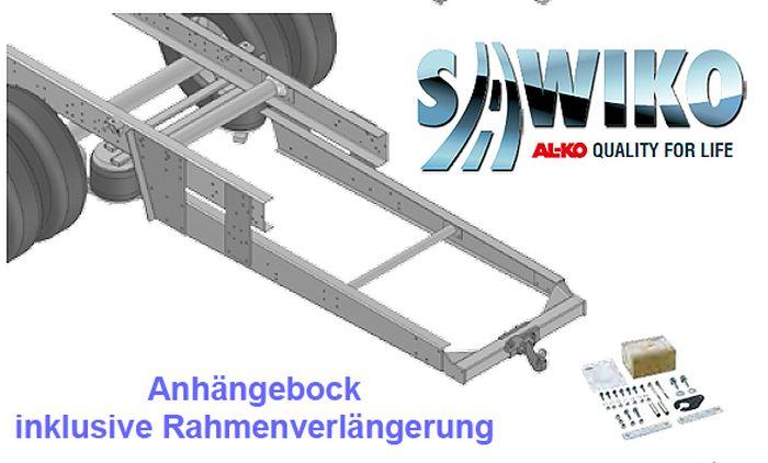 Anhängerkupplung Typ Sawiko 051, f. Wohnmobile ohne tragfähige Rahmenverlängerung, D 13,4 kN.