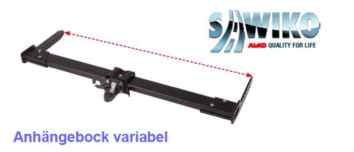 Anhängerkupplung Typ Sawiko 052-5, variabel f. Wohnmobile mit vorh. tragfähige Rahmenverl. bis 1420mm RB, D 14,7kN.