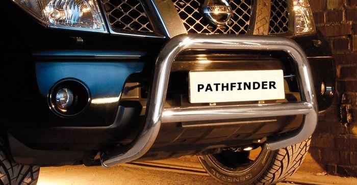 Frontschutzbügel Kuhfänger Bullfänger Nissan Pathfinder 2005-2010, Steelbar Q 70mm, schwarz beschichtet
