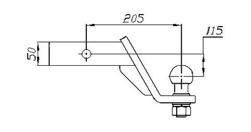 US- Einsteckadapter bis 3500kg,140 unter