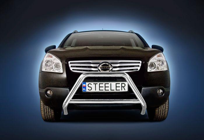 Frontschutzbügel Kuhfänger Bullfänger Nissan Qashqai 2007-2010, Steelbar Q 60mm, schwarz beschichtet