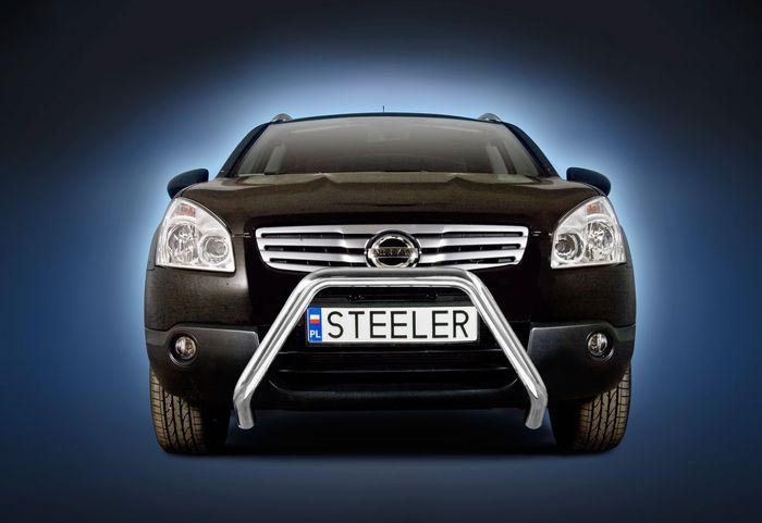 Frontschutzbügel Kuhfänger Bullfänger Nissan Qashqai 2007-2010, Steelbar 60mm, schwarz beschichtet