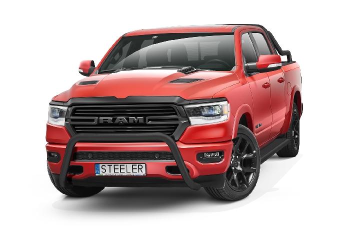 Frontschutzbügel Kuhfänger Bullfänger Dodge RAM 1500 2019-, Steelbar 70mm, schwarz beschichtet