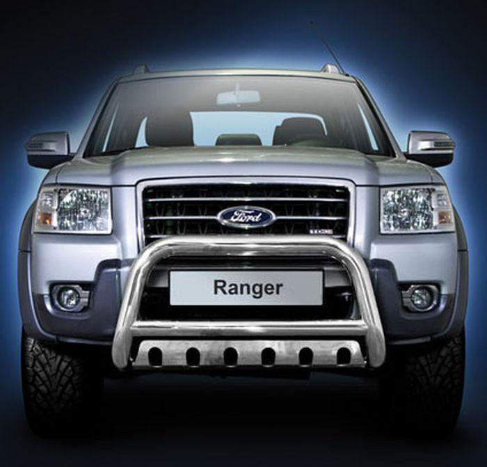 Frontschutzbügel Kuhfänger Bullfänger Ford Ranger 2009-2011, Steelbar QFU 70mm, schwarz beschichtet