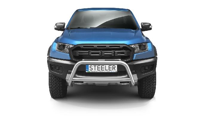 Frontschutzbügel Kuhfänger Bullfänger Ford Ranger Raptor 2019-, Steelbar Q 70mm