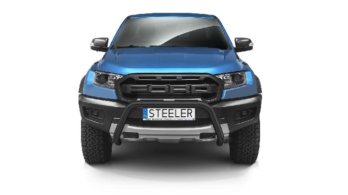 Frontschutzbügel Kuhfänger Bullfänger Ford Ranger Raptor 2019-, Steelbar 70mm, schwarz beschichtet