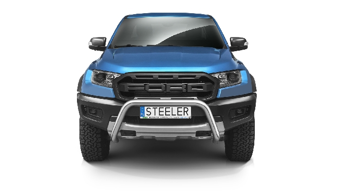 Frontschutzbügel Kuhfänger Bullfänger Ford Ranger Raptor 2019-, Steelbar 70mm