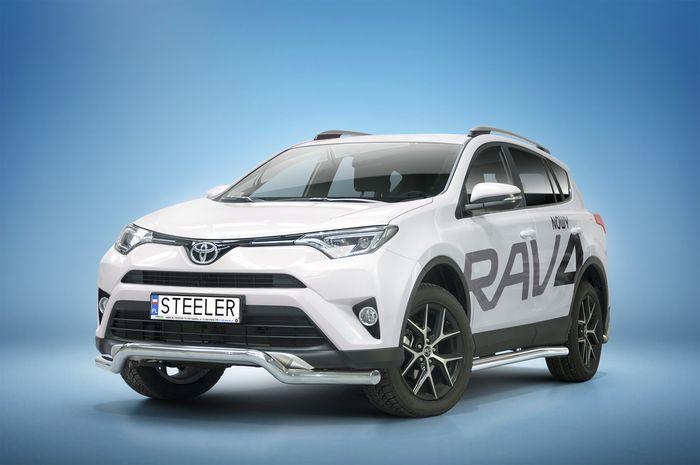 Frontschutzbügel Kuhfänger Bullfänger Toyota RAV4 2015-2018, Sportbar 70mm, schwarz beschichtet