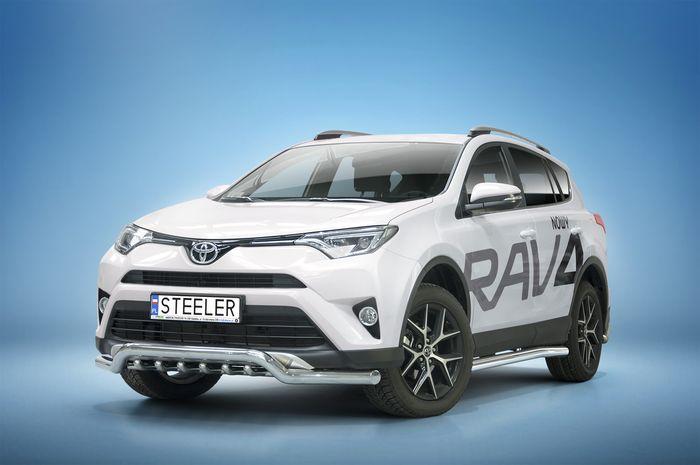 Frontschutzbügel Kuhfänger Bullfänger Toyota RAV4 2015-2018, Sportbar UR 70mm, schwarz beschichtet