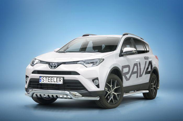 Frontschutzbügel Kuhfänger Bullfänger Toyota RAV4 2015-2018, Sportbar UF 70mm, schwarz beschichtet