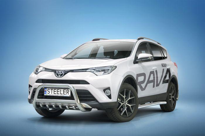 Frontschutzbügel Kuhfänger Bullfänger Toyota RAV4 2015-2018, Steelbar QRU 70mm, schwarz beschichtet