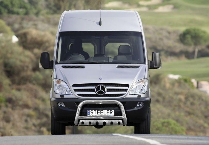 Frontschutzbügel Kuhfänger Bullfänger Mercedes Sprinter 2013-2018, Steelbar QFU 70mm