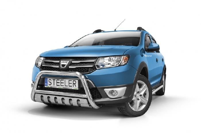 Frontschutzbügel Kuhfänger Bullfänger Dacia Sandero Stepway 2012-2016, Steelbar QFU 60mm