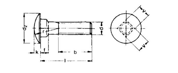 Schlossschraube M10x40, vz, 1 Stk.