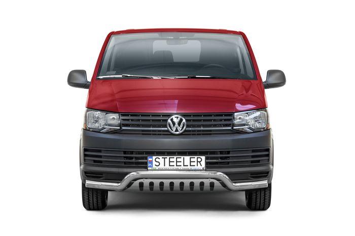 Frontschutzbügel Kuhfänger Bullfänger VW Transporter T6 2015-2019, Sportbar 70mm