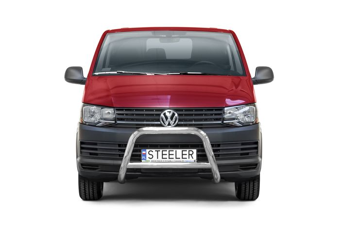 Frontschutzbügel Kuhfänger Bullfänger VW Transporter T6 2015-, Steelbar Q 70mm, schwarz beschichtet