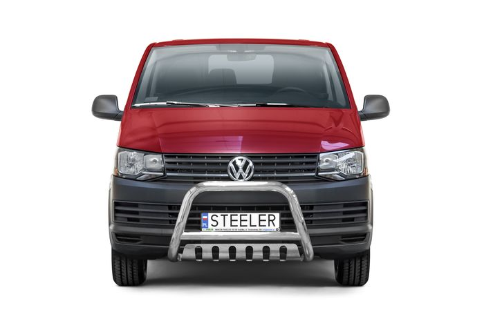 Frontschutzbügel Kuhfänger Bullfänger VW Transporter T6 2015-2019, Steelbar QFU 70mm
