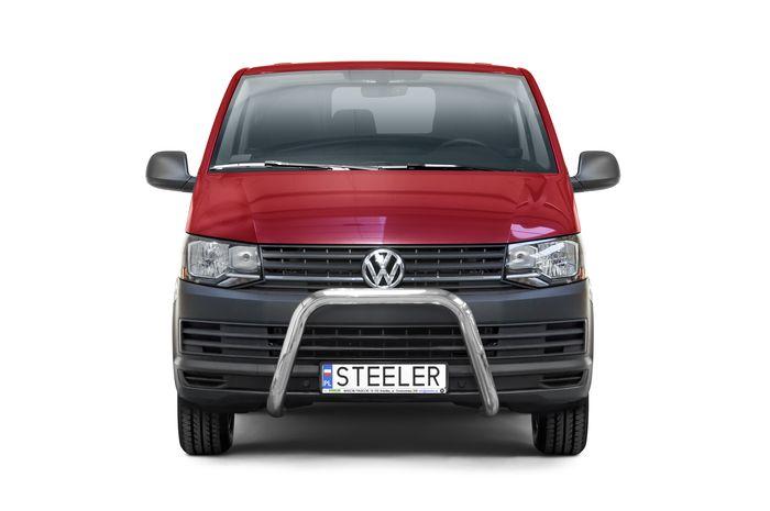 Frontschutzbügel Kuhfänger Bullfänger VW Transporter T6 2015-2019, Steelbar 70mm, schwarz beschichtet