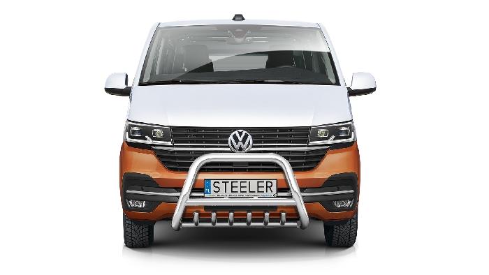 Frontschutzbügel Kuhfänger Bullfänger VW Transporter T6.1 2019-, Steelbar QRU 70mm