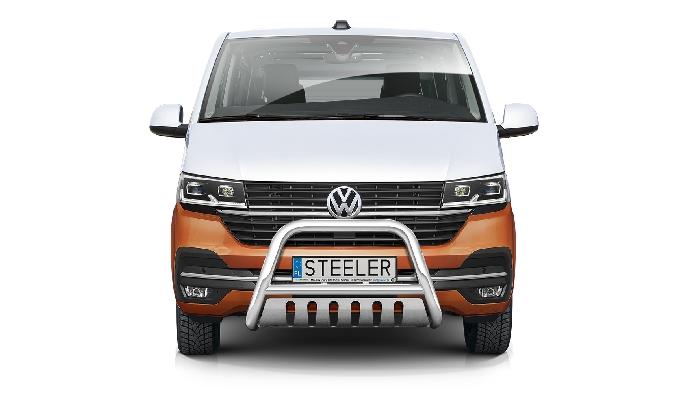 Frontschutzbügel Kuhfänger Bullfänger VW Transporter T6.1 2019-, Steelbar QFU 70mm