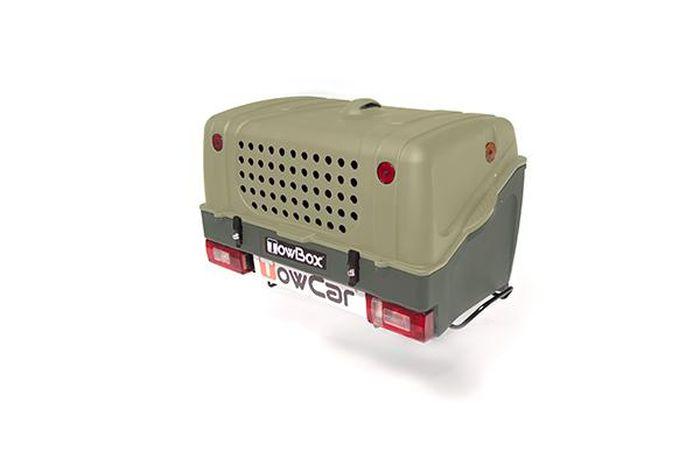 TowBox System BOX System DOG V1, grün, Toplader AHK Lastenträger
