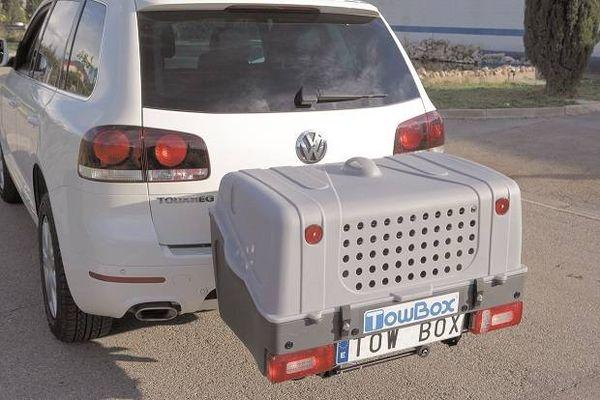 TowBox System BOX System DOG V1, grau, Toplader AHK Lastenträger