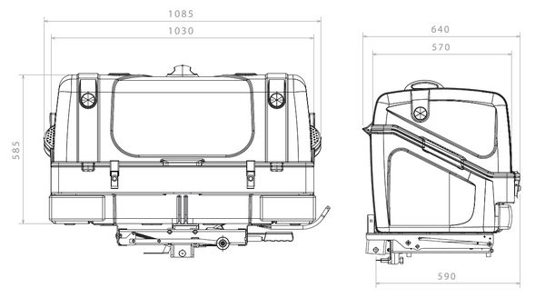 TowBox System BOX System BOX V1, grau, Toplader AHK Lastenträger
