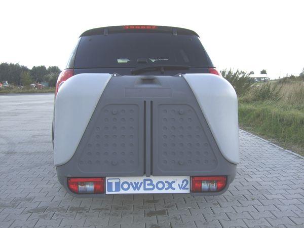 TowBox System BOX System BOX V2, grau, seitl. Beladung AHK Lastenträger