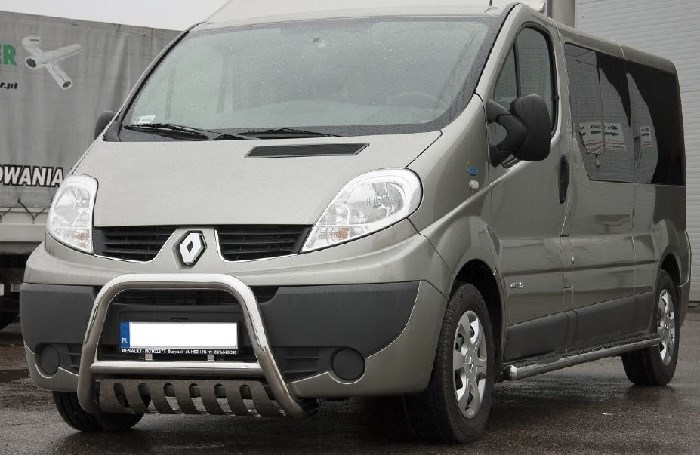 Frontschutzbügel Kuhfänger Bullfänger Renault Trafic 2001-2014, Steelbar Q 70mm, schwarz beschichtet