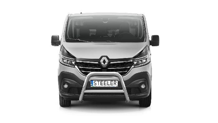 Frontschutzbügel Kuhfänger Bullfänger Renault Trafic 2019-, Steelbar Q 70mm