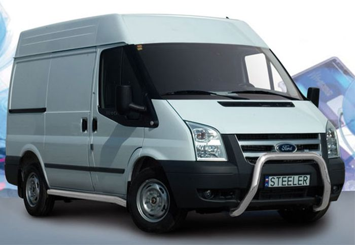 Frontschutzbügel Kuhfänger Bullfänger Ford Transit 2006-2012, Steelbar 70mm, schwarz beschichtet