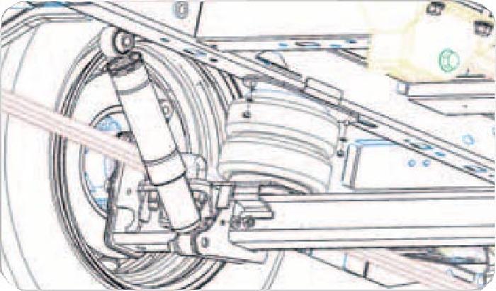 Nissan NV 400 III Bj. 2010-2014, Heckantrieb, Zusatz-Luftfederung 8 Zoll Zweikreis Doppelfaltenbalg- Anlage, Semi Air Komfortset-Camp, syst. LF1