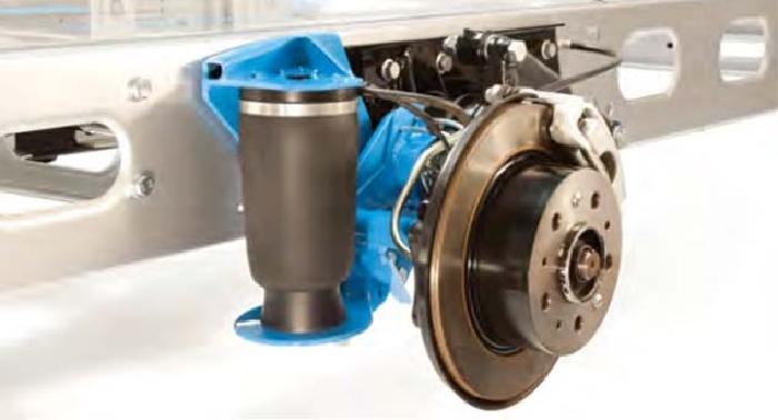 ALKO ( AL-KO )- Chassis- 2007-2011, Standard Radaufnahme- Einzelachse, Zusatz-Luftfederung Zweikreis Rollbalg- Anlage, Semi Air Komfortset, Syst. LF1