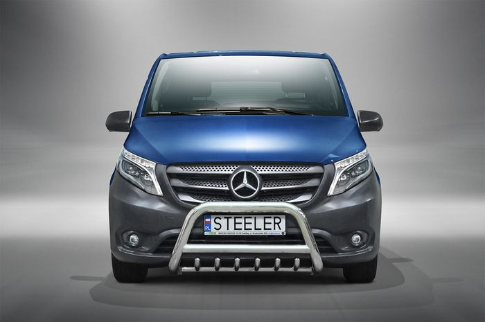 Frontschutzbügel Kuhfänger Bullfänger Mercedes Vito/Viano 2015-2020, Steelbar QRU 70mm