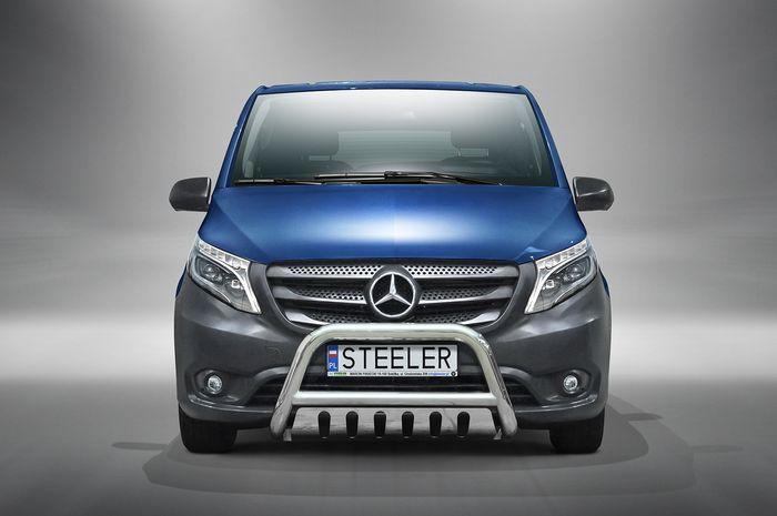 Frontschutzbügel Kuhfänger Bullfänger Mercedes Vito/Viano 2015-2020, Steelbar QFU 70mm