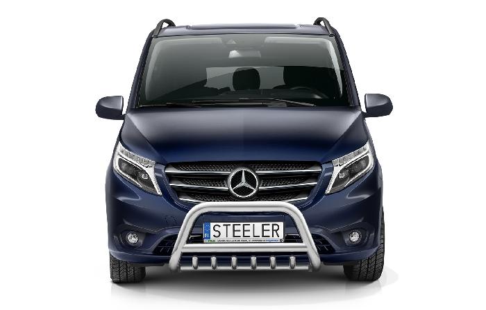 Frontschutzbügel Kuhfänger Bullfänger Mercedes Vito/Viano 2020-, Steelbar QRU 70mm