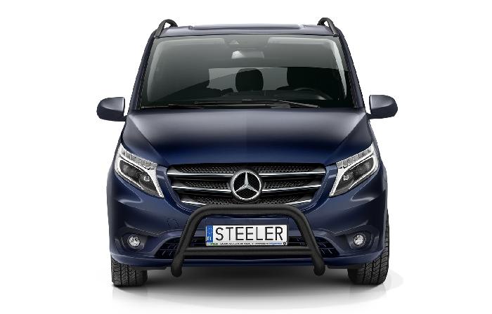 Frontschutzbügel Kuhfänger Bullfänger Mercedes Vito/Viano 2020-, Steelbar Q 70mm, schwarz beschichtet