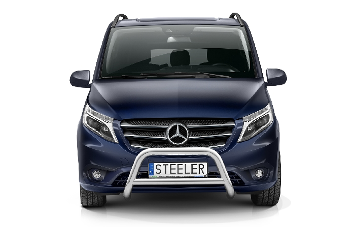 Frontschutzbügel Kuhfänger Bullfänger Mercedes Vito/Viano 2020-, Steelbar Q 70mm