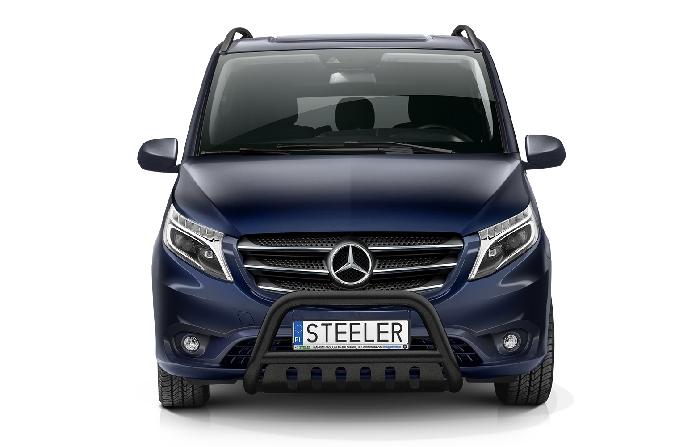 Frontschutzbügel Kuhfänger Bullfänger Mercedes Vito/Viano 2020-, Steelbar QFU 70mm, schwarz beschichtet