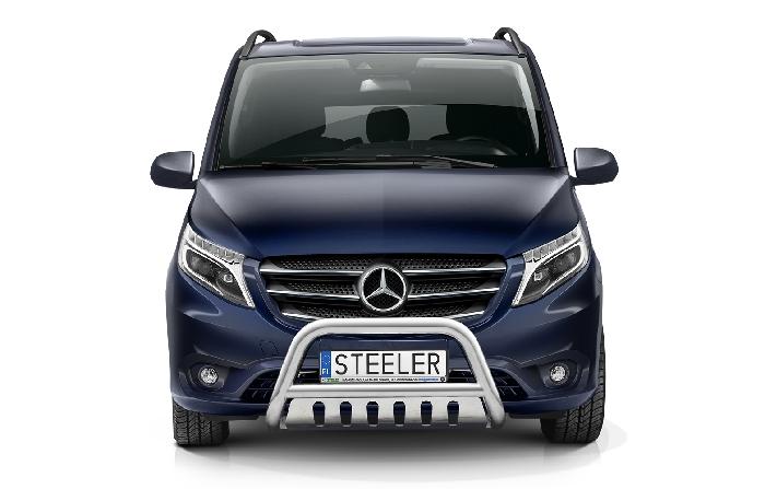Frontschutzbügel Kuhfänger Bullfänger Mercedes Vito/Viano 2020-, Steelbar QFU 70mm