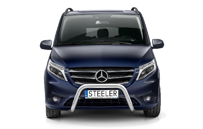 Frontschutzbügel Kuhfänger Bullfänger Mercedes Vito/Viano 2020-, Steelbar 70mm