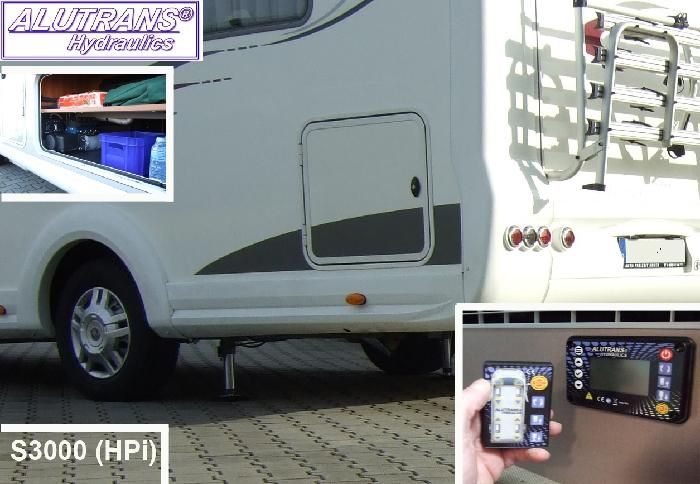 Hydraulische Hubstützen Anlage Mercedes Sprinter 5er Serie Bj. 2006-2010, ALUTRANS S3000 (HPi) Kl. 2 bis 6,5t zGG, 12V, autom. Niveauregulierung