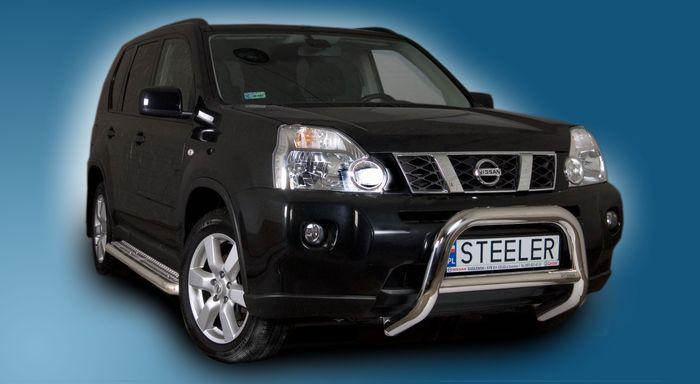 Frontschutzbügel Kuhfänger Bullfänger Nissan X-Trail 2007-2010, Steelbar Q 70mm