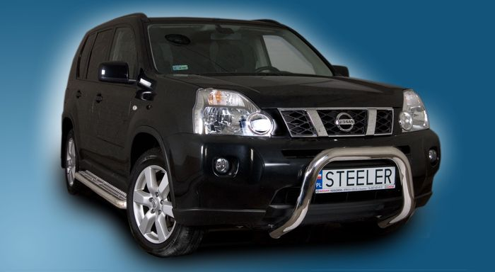 Frontschutzbügel Kuhfänger Bullfänger Nissan X-Trail 2007-2010, Steelbar 70mm, schwarz beschichtet