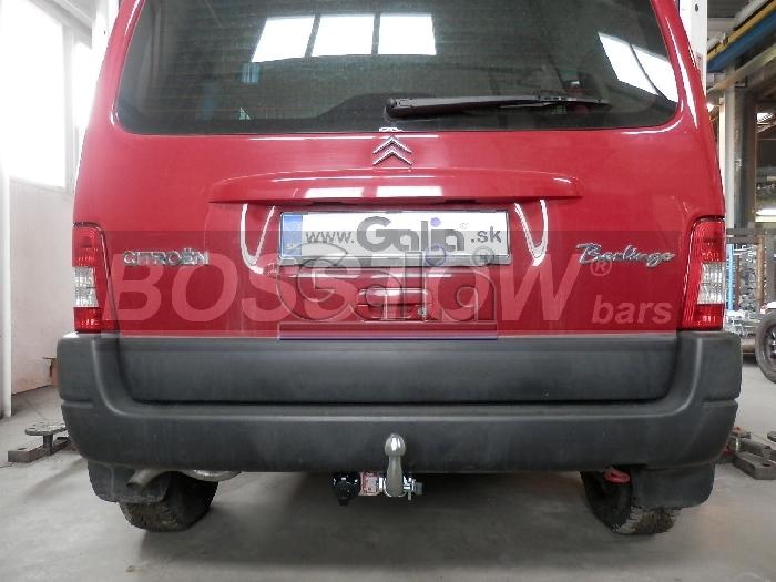 Anhängerkupplung für Citroen-Berlingo - 2002-2006 Kasten, Bus Kombi, Multisp. Ausf.:  horizontal