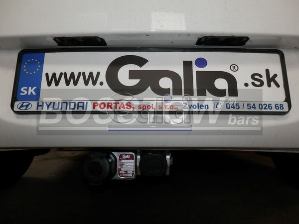 Anhängerkupplung für Hyundai-I20 - 2009-2011 Fließheck Ausf.:  horizontal