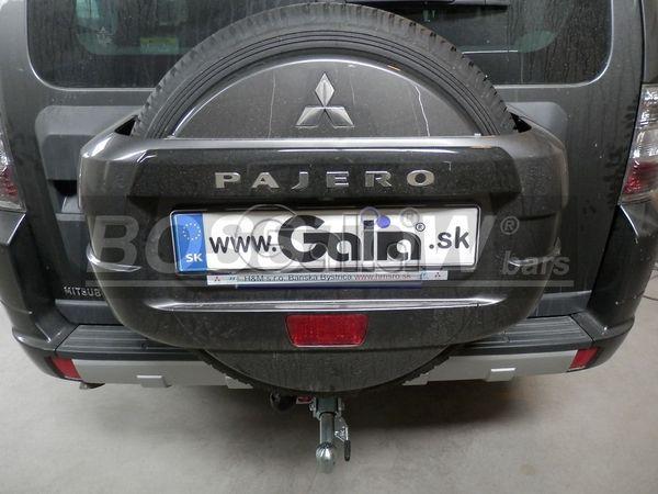 Anhängerkupplung für Mitsubishi-Pajero - 2000-2002 V60 (kurzer Radstand) Ausf.:  horizontal
