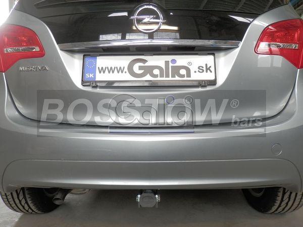 Anhängerkupplung für Opel-Meriva - 2010-2014 B, Minivan, nicht für Kfz. mit Fahrradträgersystem Flex-Fix Ausf.:  horizontal
