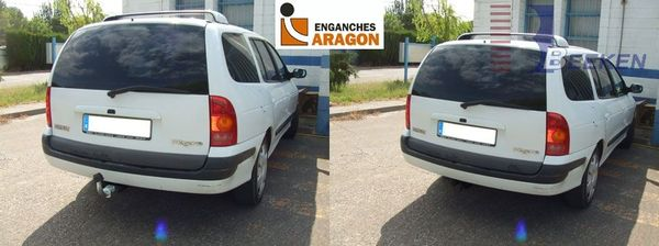 Anhängerkupplung für Renault-Megane - 2000-2003 Kombi Ausf.:  horizontal
